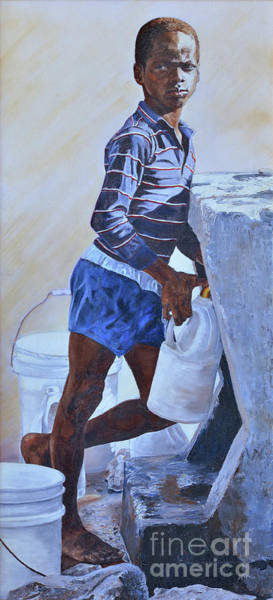 Painting - At The Pump by Nicole Minnis