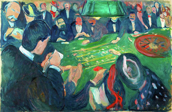 Wall Art - Painting - At The Roulette Table In Monte Carlo - Digital Remastered Edition by Edvard Munch