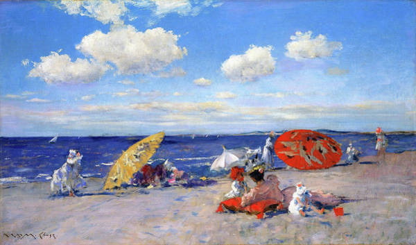 Wall Art - Painting - At The Seaside - Digital Remastered Edition by William Merritt Chase