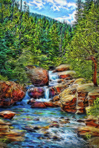Delight Digital Art - At The Speed Of Water by Joel Bruce Wallach