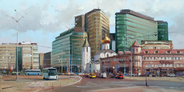 Railway Painting - At The Turn Of The Ages. Tverskaya Zastava by Alexey Shalaev