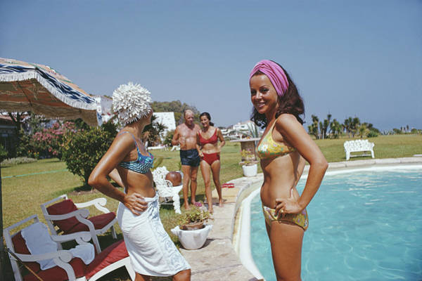 Marbella Photograph - At The Von Pantzs by Slim Aarons