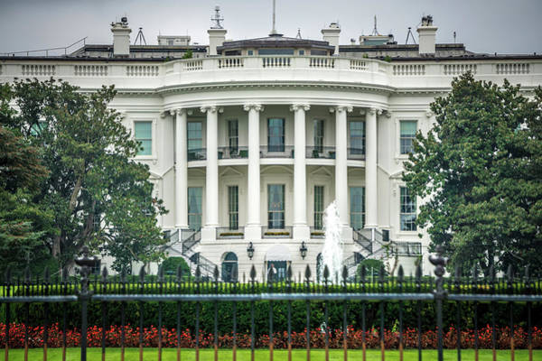 Photograph - At The White House In Washington Dc by Alex Grichenko