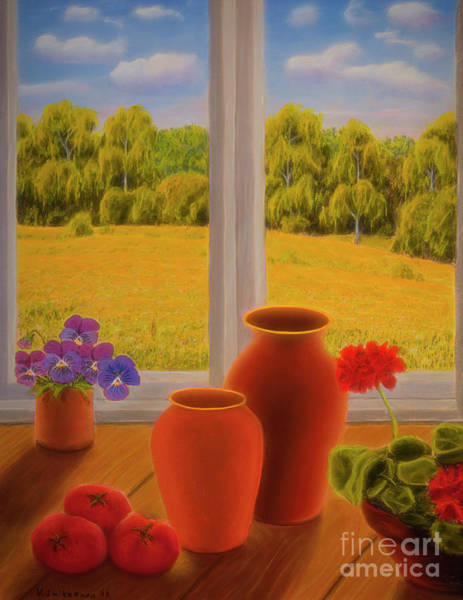Wall Art - Pastel - At The Window by Veikko Suikkanen