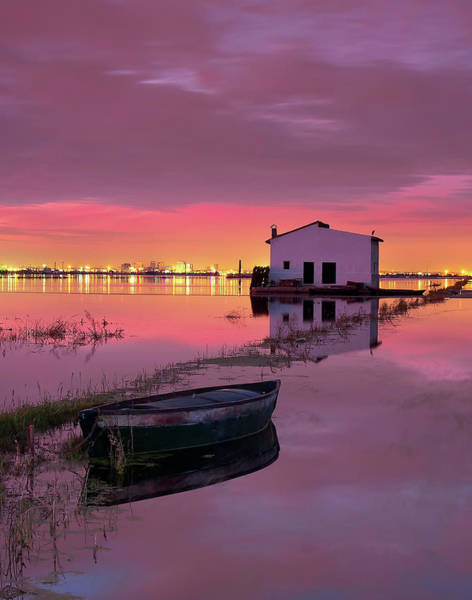 Recreational Boat Photograph - Atardecer En La Albufera by Fotografo Paisajista