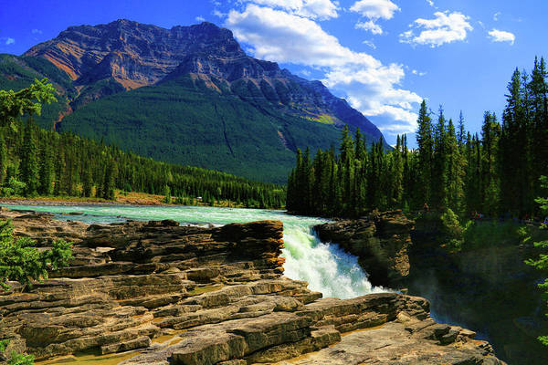 Photograph - Athabasca Falls In Jasper National Park  by Ola Allen