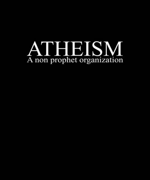 Skeptic Wall Art - Digital Art - Atheism Non Prophet Organization Religion Atheist Guys Funny Science Agnostic Style Birthday Gift At by Archie Schofield