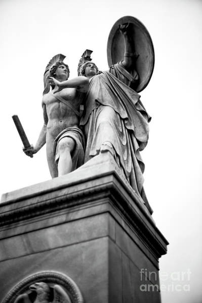 Wall Art - Photograph - Athena Protects The Young Hero Berlin by John Rizzuto