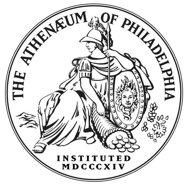 Mixed Media - Athenaeum Of Philadelphia Logo by Unknown