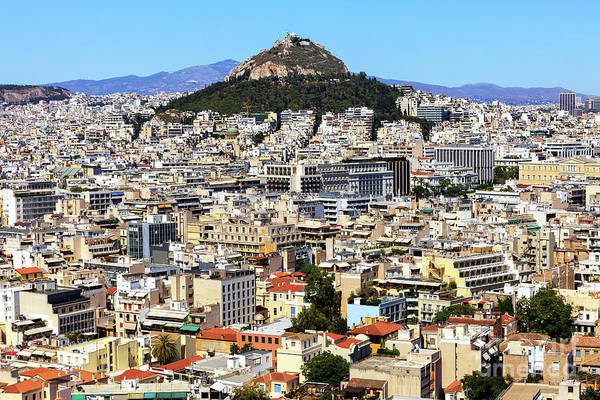 Photograph - Athens City View Greece by John Rizzuto