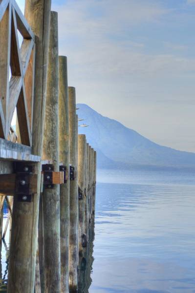 Photograph - Atitlan Pier by Bill Hamilton