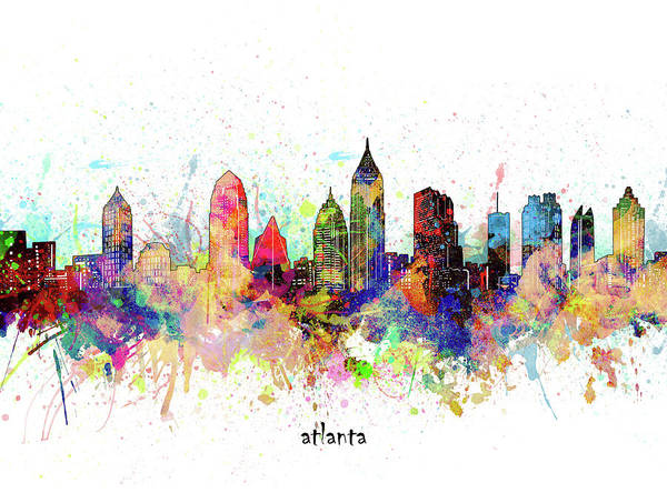 Wall Art - Digital Art - Atlanta Artistic by Bekim M