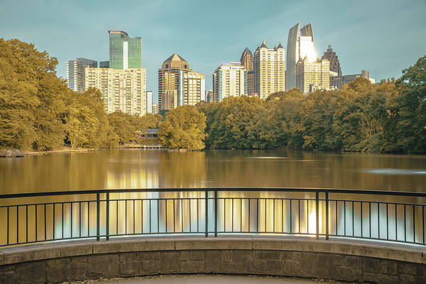 Wall Art - Photograph - Atlanta Autumn Skyline From Piedmont Park by Gregory Ballos