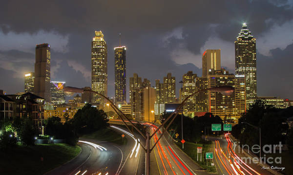 Photograph - Atlanta From The Bridge Atlanta Sunset Cityscape Art by Reid Callaway