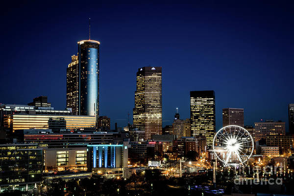 Photograph - Atlanta Ga Downtown Skyline At Night by Sanjeev Singhal