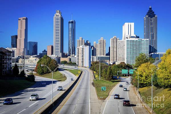 Photograph - Atlanta Ga Skyline - Jackson St Bridge 1 by Sanjeev Singhal