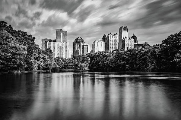 Photograph - Atlanta Georgia - Monochrome View From Piedmont Park by Gregory Ballos