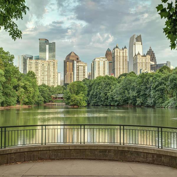 Photograph - Atlanta Georgia Piedmont Park Skyline - Square 1x1 by Gregory Ballos