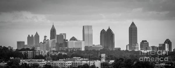 Georgia Power Company Photograph - Atlanta Georgia Skyline B W Atlanta Cityscape Art by Reid Callaway