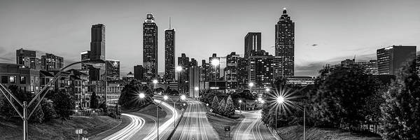 Photograph - Atlanta Georgia Skyline Panorama - Black And White Edition by Gregory Ballos