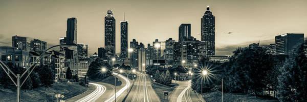 Photograph - Atlanta Georgia Skyline Panorama - Sepia Edition by Gregory Ballos