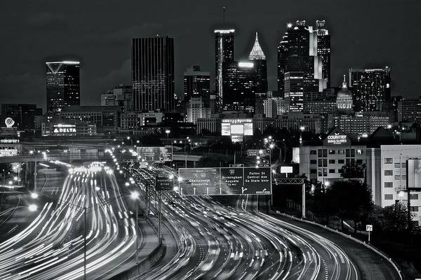 I-75 Photograph - Atlanta Heavy Traffic by Frozen in Time Fine Art Photography
