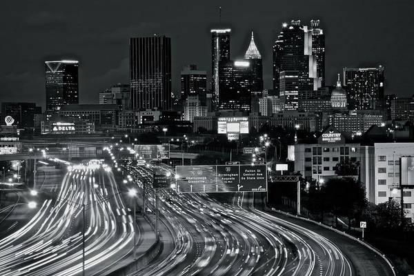 Wall Art - Photograph - Atlanta Heavy Traffic by Frozen in Time Fine Art Photography