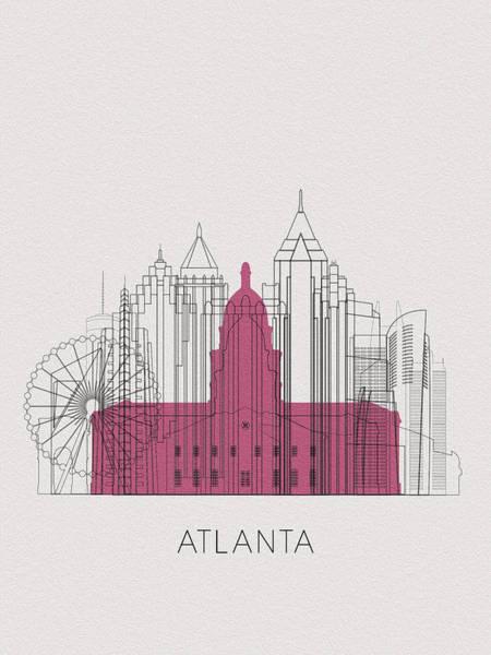 Wall Art - Digital Art - Atlanta Landmarks by Inspirowl Design