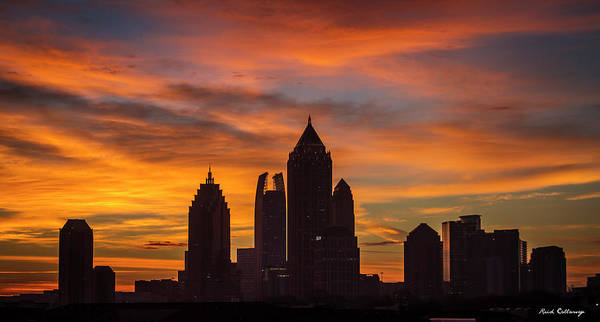 Photograph - Atlanta Midtown Sunrise Silhouette Atlanta Georgia Cityscape Art by Reid Callaway