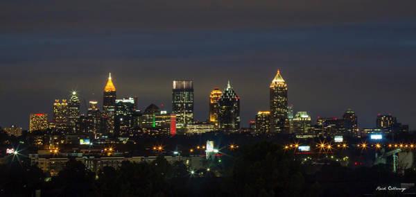 Georgia Power Company Photograph - Atlanta Night Lights 2 Downtown Atlanta Georgia Art by Reid Callaway