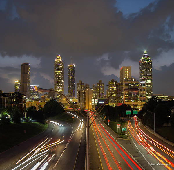 Wall Art - Photograph - Atlanta Nite Lites 2 Atlanta Sunset Cityscape Art by Reid Callaway