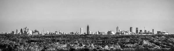 Wall Art - Photograph - Atlanta Panorama Sunset Aglow B W Skyline Cityscape Art by Reid Callaway