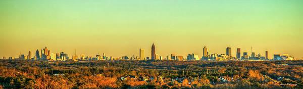 Wall Art - Photograph - Atlanta Panorama Sunset Aglow Skyline Cityscape Art by Reid Callaway