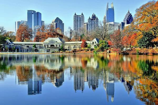 Municipality Photograph - Atlanta Reflected by Frozen in Time Fine Art Photography
