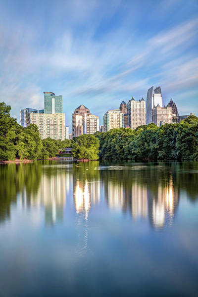 Photograph - Atlanta Skyline On Lake Clara Meer - Piedmont Park View by Gregory Ballos