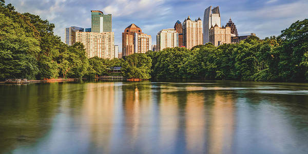 Wall Art - Photograph - Atlanta Skyline Panorama From Piedmont Park by Gregory Ballos
