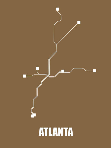Wall Art - Digital Art - Atlanta Subway Map 2 by Naxart Studio