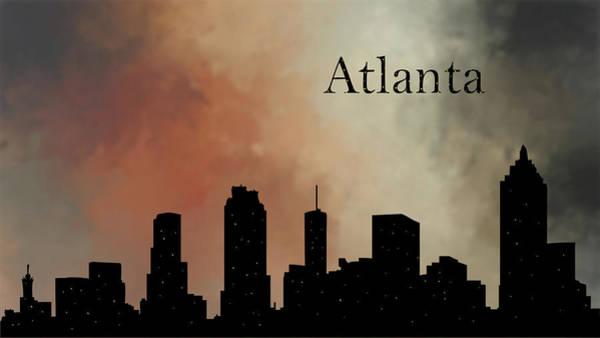 City Scape Digital Art - Atlanta by Tim Palmer