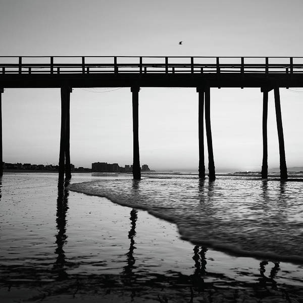 Surf City Usa Photograph - Atlantic City From The Beach At by Adam Blasberg