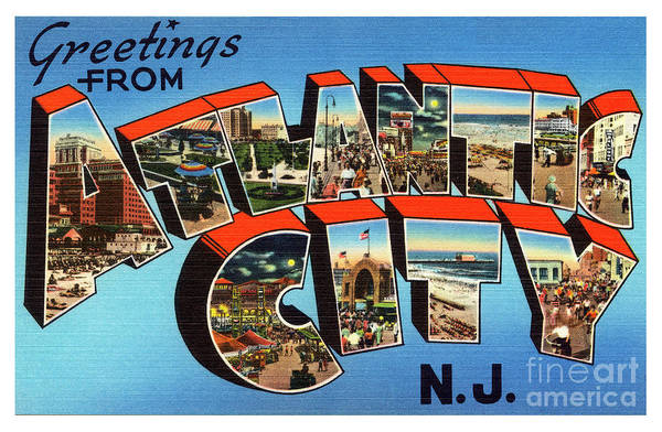 Photograph - Atlantic City Greetings #3 by Mark Miller