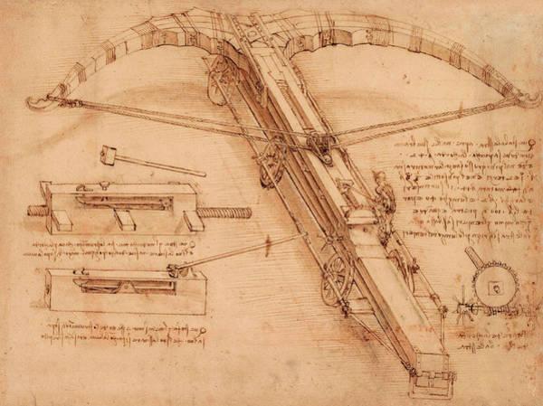 Wall Art - Painting - Atlantic Codex - Codex Atlanticus, F 149 Recto by Leonardo da Vinci