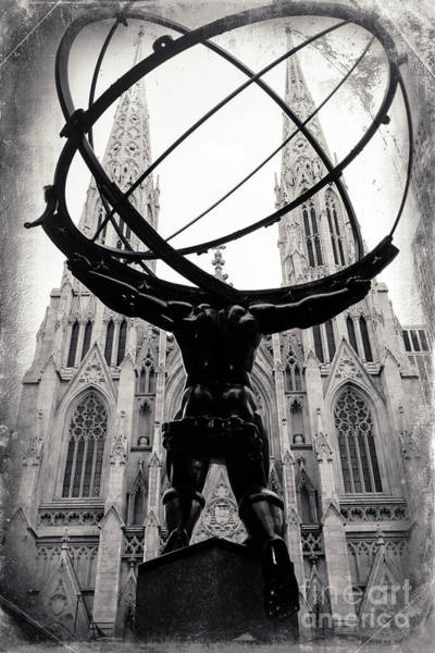 Photograph - Atlas Holding The Heavens At Rockefeller Center by John Rizzuto