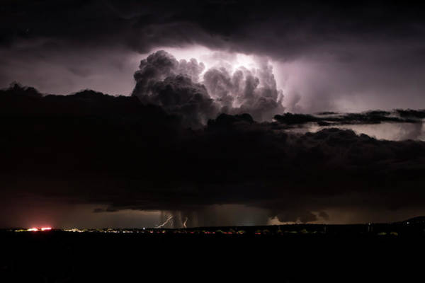 Shelf Cloud Photograph - Atomic Thunderstorm by Cathy Franklin