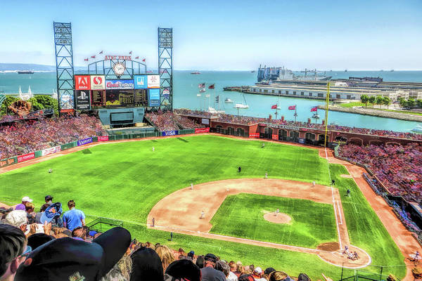 Painting - Att Park San Francisco Giants Baseball Ballpark Stadium by Christopher Arndt