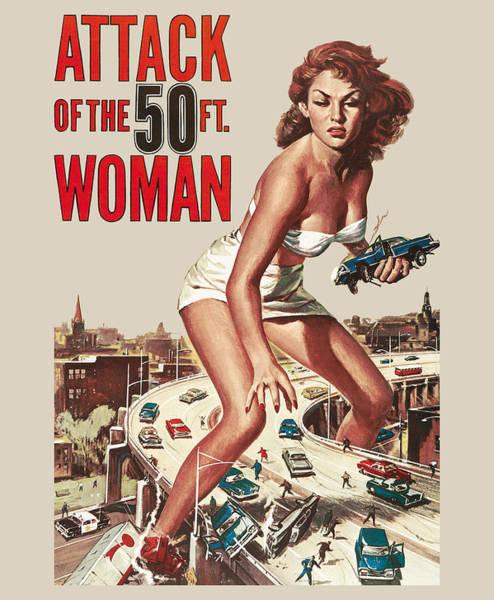 Lagoon Digital Art - Attack Of The 50 Ft Woman by Filip Hellman