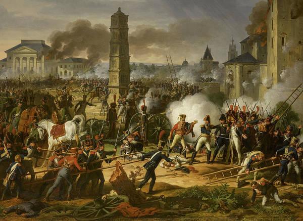Wall Art - Painting - Attaque Et Prise De Ratisbonne Le 1809 by Charles Thevenin