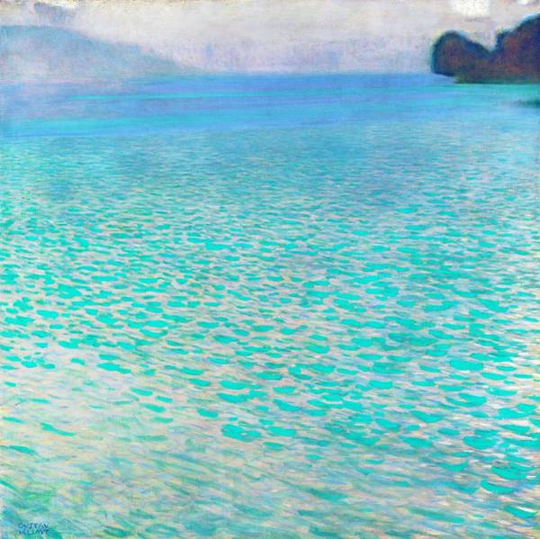 Felicitous Wall Art - Painting - Attersee - Digital Remastered Edition by Gustav Klimt
