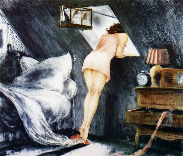 Attic Wall Art - Painting - Attic - Digital Remastered Edition by Louis Icart