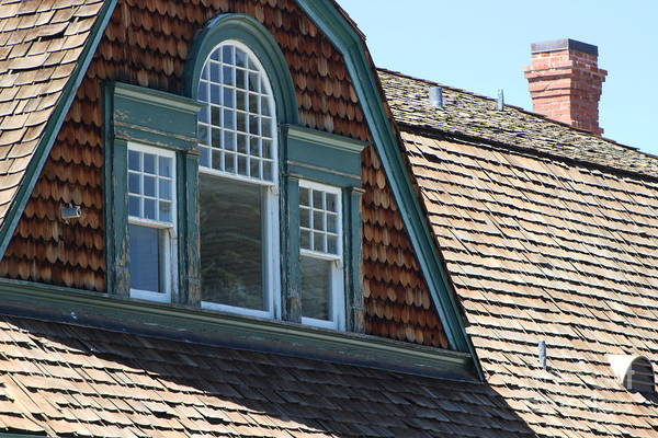 Photograph - Attic Windows In Quarters At Fort Stanton New Mexico by Colleen Cornelius