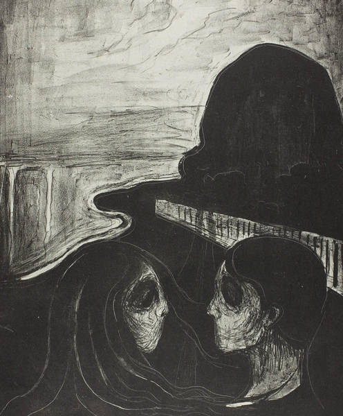Wall Art - Relief - Attraction I by Edvard Munch